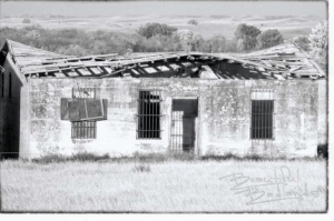 The Jail at Mondak, Montana as it stood in 2018, over a hundred years after J.C. Collin's Lynching.