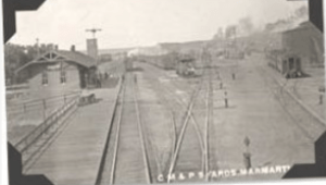 Rail Lines in the Early Days of Marmarth, North Dakota
