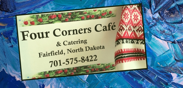 Four Corners Cafe & Catering in Fairfield, North Dakota offers the best Ukrainian, the best any-kind of food around!   Find them here on Facebook: https://www.facebook.com/fourcornerscafefairfield