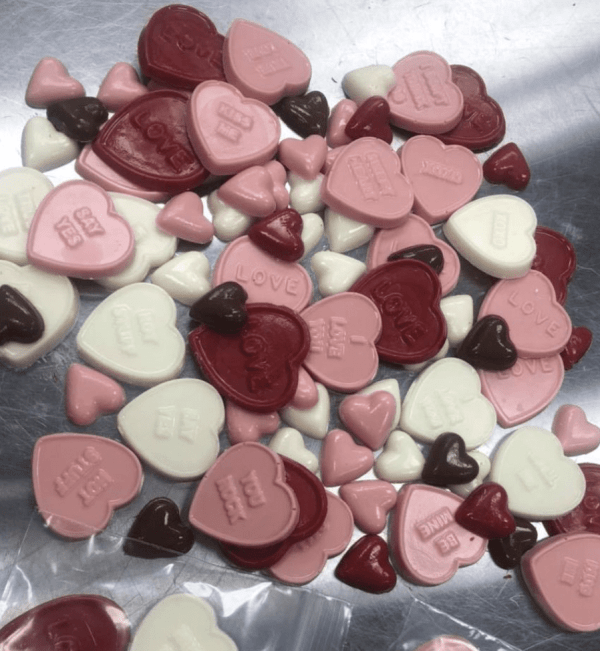 Valentine treats from the Facebook page of C & K Sweet Shoppe in Dickinson, North Dakota