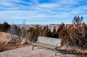 bench on paved boicourt trail