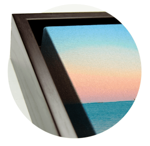 Walnut Floating Frame (corners)