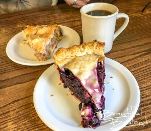 Pies are a specialty at Four Corners Cafe & Catering in Fairfield, North Dakota