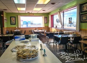 Dining room at Four Corners Cafe & Catering, Fairfield, North Dakota