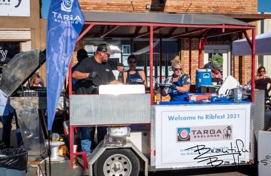 Targa Badlands Rib booth. Watford City Ribfest. August 13, 2021