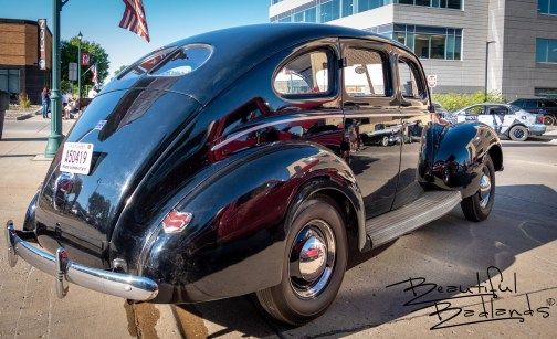Ford Deluxe, rear side Watford City Ribfest. August 13, 2021