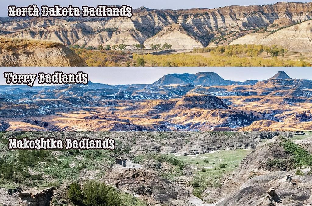three badlands