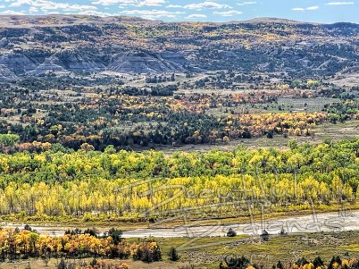 fall colors yellow little missouri river badlands