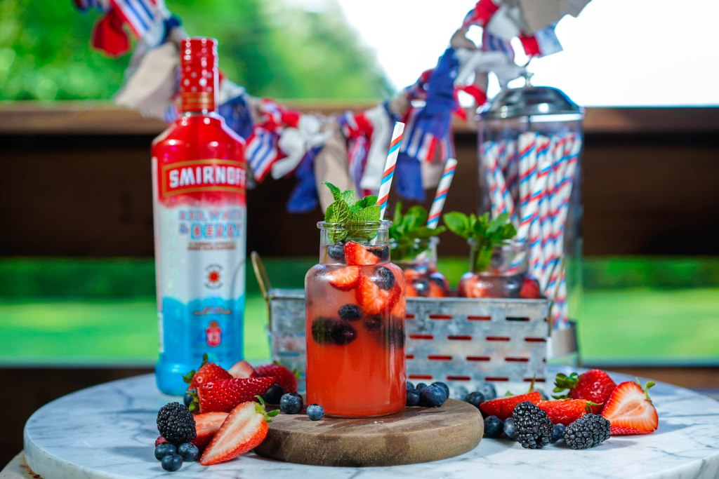 , Smirnoff's Red, White, and Berry Bubbly Limeade