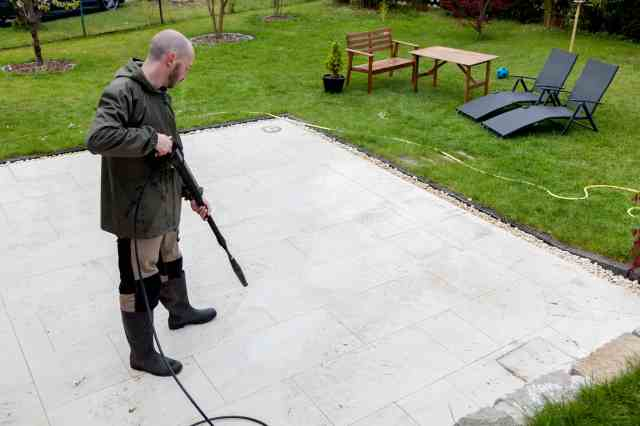 How to Clean a Concrete Patio - Beautiful Borders Co