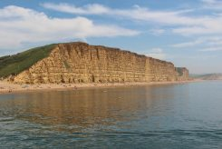 East Cliff and Burton Freshwater, from West Bay, near Bridport
