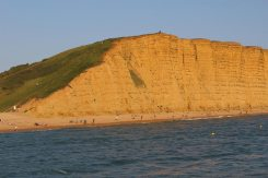 East Cliff, from Jurassic Pier, West Bay, near Bridport