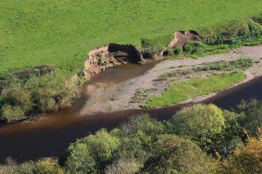 Gravel bank, River Wye, from Yat Rock, Symonds Yat