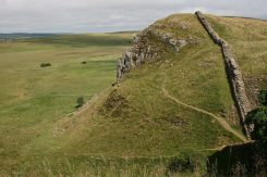 Highshield Crags, Hadrian's Wall, looking east