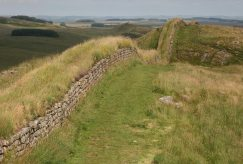 Hotbank Crags, Hadrian's Wall, looking east