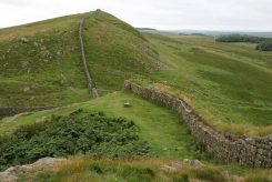 Hotbank Crags, Hadrian's Wall, looking west