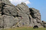 Rock climbers, Haytor, Dartmoor