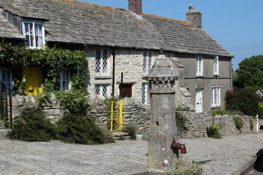 Village pump and cottages, Kingston