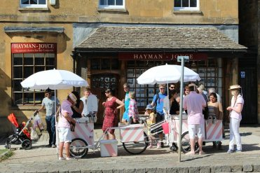 Icycle Tricycle, ice cream sellers, Broadway, Cotswolds
