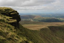 Corn Du and path from Storey Arms Centre, Brecon Beacons