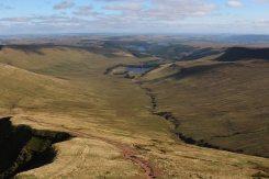 Upper Neuadd Reservoir, from Pen y Fan, Brecon Beacons