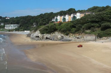 Caswell Bay Court, above beach, Caswell Bay, Gower