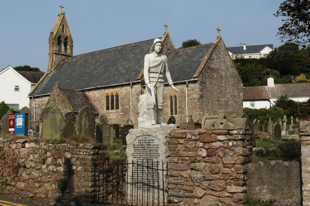 Lifeboat Memorial, St. Cattwg's Church, Port Eynon
