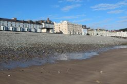 North Shore Beach and seafront hotels, Llandudno