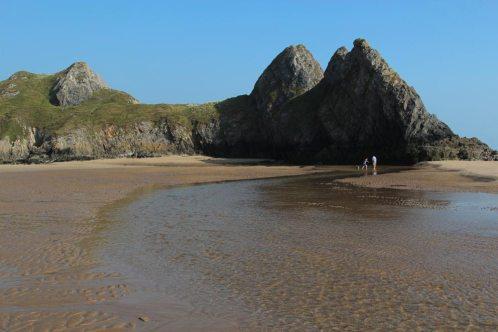 Pennard Pill and Three Cliffs rocks, Three Cliffs Bay, Gower