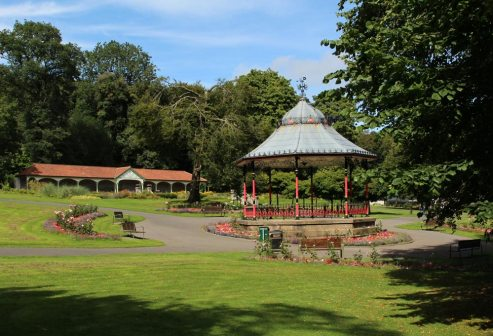 Bandstand and Long Shelter, Bedwellty Park, Tredegar