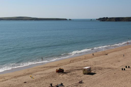 Caldey Island, from South Beach, Tenby
