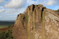 Carving in rock - visited by the Prince & Princess of Teck, August 23rd 1872. The Roaches