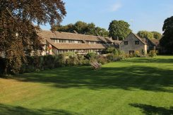 Croquet lawn, Old Swan & Minster Mill Hotel, Minster Lovell