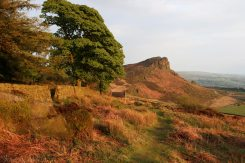 Path to Hen Cloud, from below The Roaches