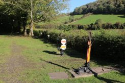Points lever and signals, The Old Station, Tintern