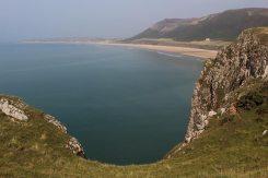 Rhossili Bay, from headland, Rhossili