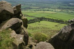 Staffordshire Moorlands, from summit of Hen Cloud, The Roaches