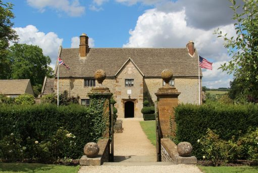 Sulgrave Manor, from the Orchard, home of George Washington's ancestors, Sulgrave
