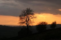 Sunset over the Cheshire Plain, from The Roaches