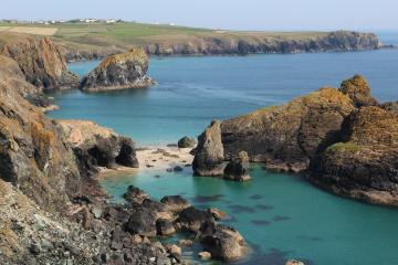 Asparagus Island, Lion Rock and Lizard Point, from Kynance Cliff, Kynance Cove