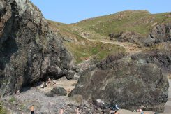 Cliff path to National Trust Car Park, Kynance Cove