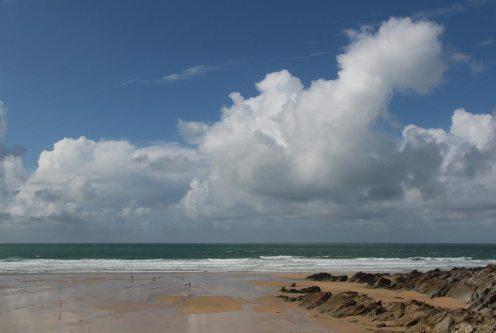 Cumulonimbus clouds, Fistral Beach, Newquay