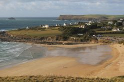 Daymer Bay, Polzeath and Pentire Point, from Brea Hill, Rock