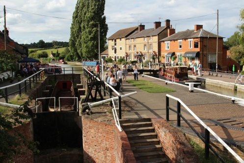 Dry Dock and Canalside, Stoke Bruerne