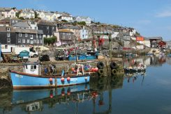 Fishing boat, Likely Lad WH324, Inner Harbour, Mevagissey