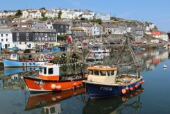 Fishing boats, Charlotta PW362 and Puffin FY278, Inner Harbour, Mevagissey
