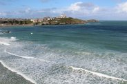 Pentire Headland and Towan Head, from Great Western Beach, Newquay