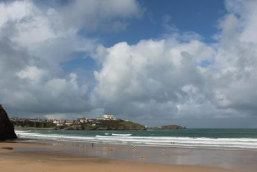 Pentire Headland and Towan Head, from Tolcarne Beach, Newquay
