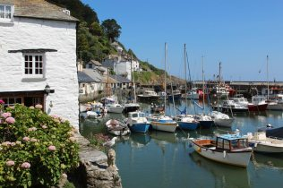 Polperro Harbour, from The Warren, Polperro