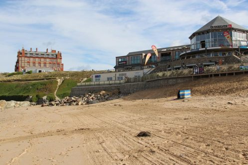 Quiksilver Store and The Headland Hotel, Fistral Beach, Newquay